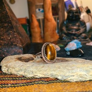 Oval Tiger Eye Ring✨